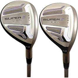 Adams New Lady Idea Super S Black 4 & 5 Hybrid Set 22° 25° Graphite Womens