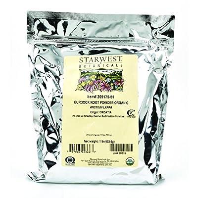 Starwest Botanicals Burdock Root Powder, 1 Pound