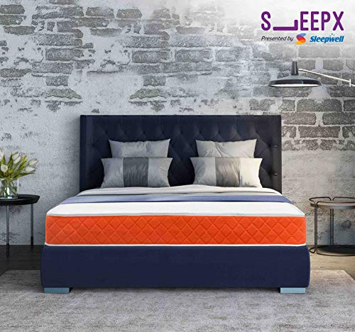 SleepX Presented by Sleepwell Dual mattress - Medium Soft and Hard (72*48*6 Inches)