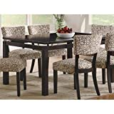 Make the Libby Dining Table the centerpiece in your dining space for a truly contemporary design. Crafted from poplar solids and birch veneers, this rectangular dining table features a rich, dark cappuccino finish that instantly brings calm a...