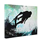 Abstract Skater CANVAS Wall Art Home Décor