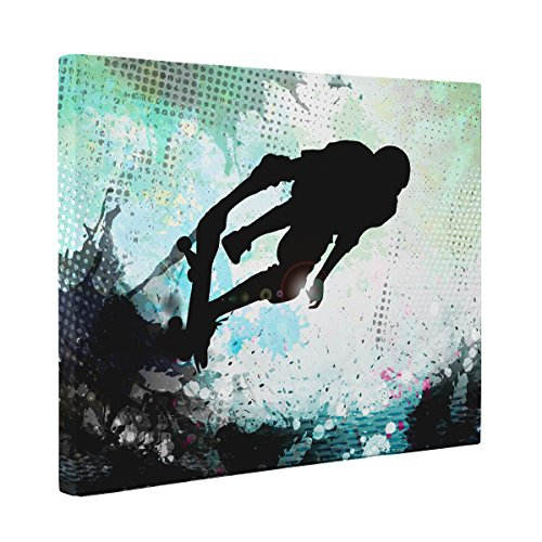 Abstract Skater CANVAS Wall Art Home Décor by Paper Blast