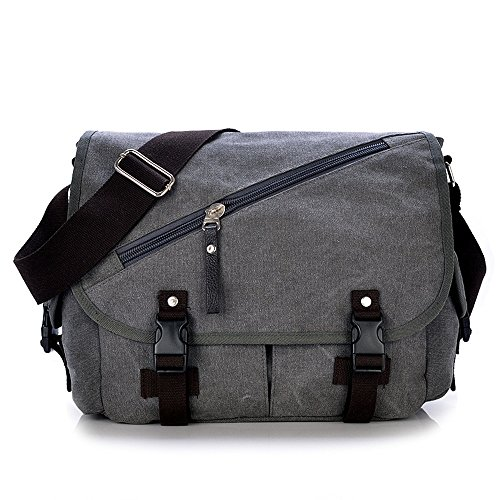 Retro Gray Shopping Simple Bag Comfortable Bag Shoulder Messenger Zipper Waterproof Color Canvas ZR5q5f
