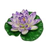 Jardin Aquarium Garden Pond Floating Lotus Decoration, Purple