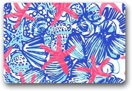 """Lilly Pulitzer Sea Prints Starfish Custom Doormat (23.6""""x15.7"""")"""