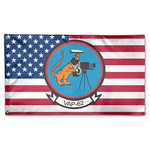 - Grace-Ra American Fly Breeze 3x5 Foot Flag - VAP-62 Heavy Photographic Squadron Patch