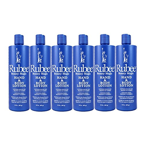 Rubee Hand Body Lotion 16 oz. Case of 6