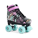 SFR vision canvas roller skates, disco roller, for children, floral, 33