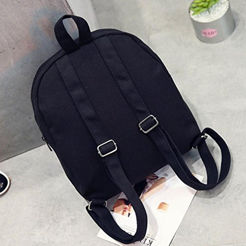 Black Strawberry Backpack Fashion Girls For Schoolbag Shoulder Fruit Pattern Bag vUUxw1