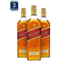 3X2 Whisky Johnnie Walker Red Label - 700 ml (Paquete de 3 botellas)