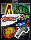 """Marvel Avengers Cookie Cutters 4 Pack Iron Man, Hulk, Thor Hammer, and Signature """"A"""")"""
