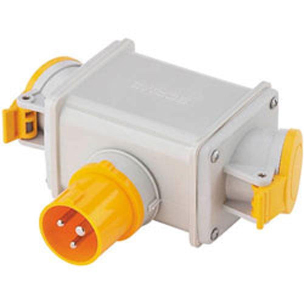 Clarke 2-Way Adaptor Plug 16A 110V - 6160500