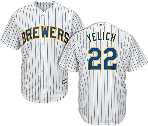 Men's #22 Christian Yelich Milwaukee Brewers Sunday Jersey XL ()