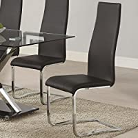 Coaster Home Furnishings Contemporary Counter Height Chair, Black