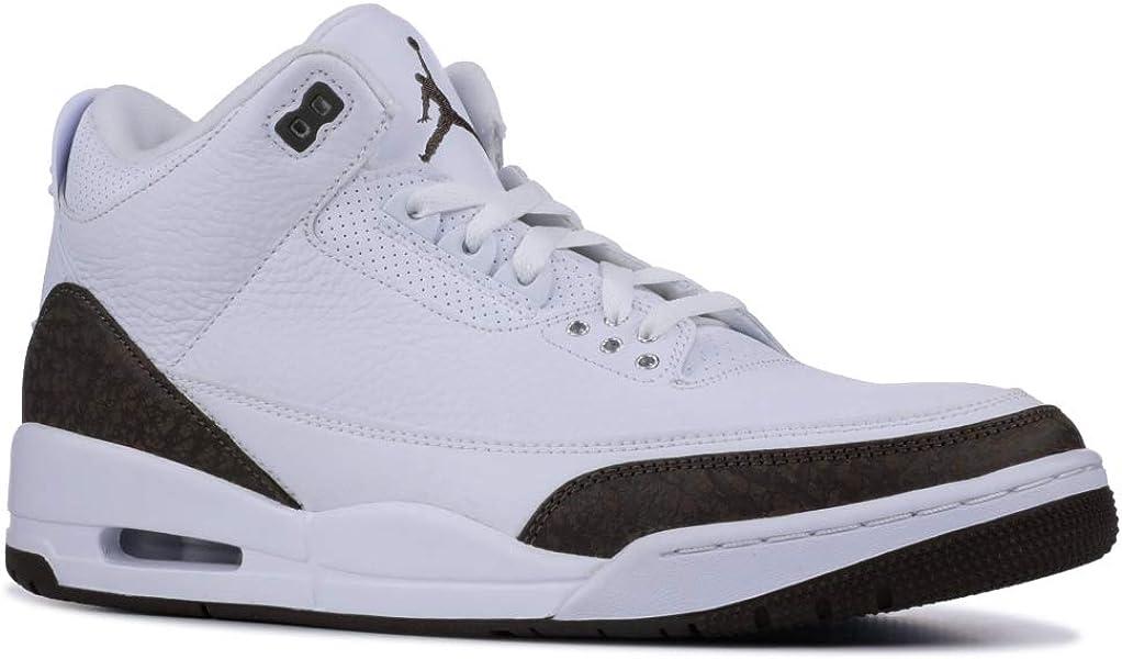 brand new 2875a e580a Nike Men s Air Jordan 3 Retro Mocha White Dark Mocha-Chrome 136064-122