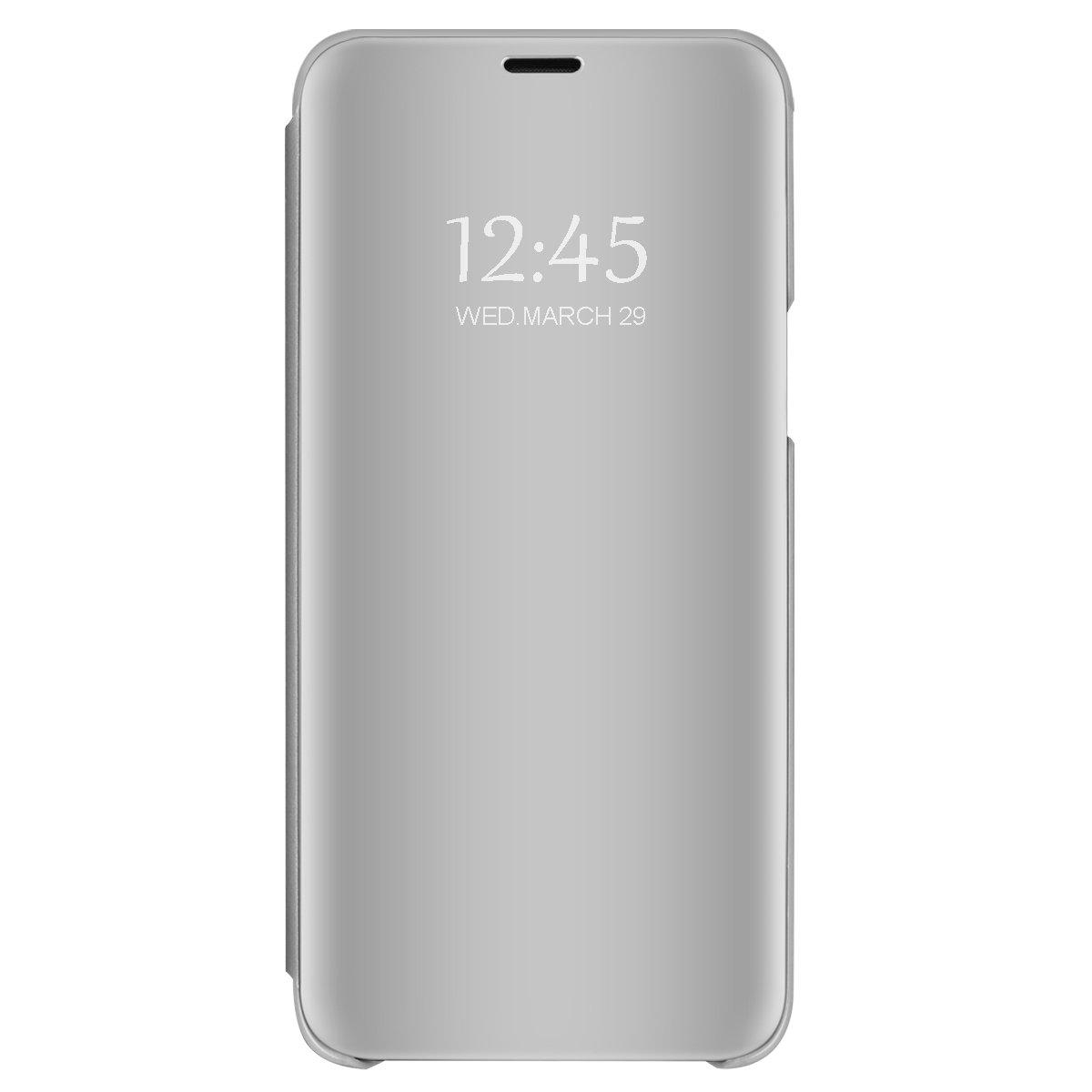 Case for Xiaomi Redmi 4X Translucent Mirror Screen Cover Flip Stand Hard Plating Shell for Redmi 4X (3, Redmi 4X)