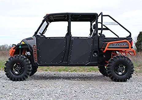 Super ATV Black R-Series Doors Polaris Ranger Fullsize 570/900 4 Seater : atv doors - pezcame.com