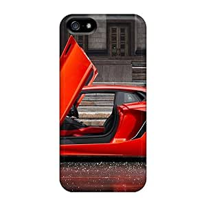 Waterdrop Snap-on Red Lamborghini With Everythin Open In Hail Case For Iphone 5/5s