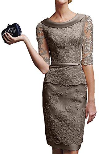 Kleid braun festlich