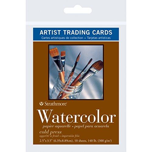 [해외]스 트 라 스모 어 트레이딩 카드 2.5 인치 × 3.5 인치 10 매 들-수채화 / Strathmore Artist Trading Cards 2.5X3.5 10pkg-Watercolor