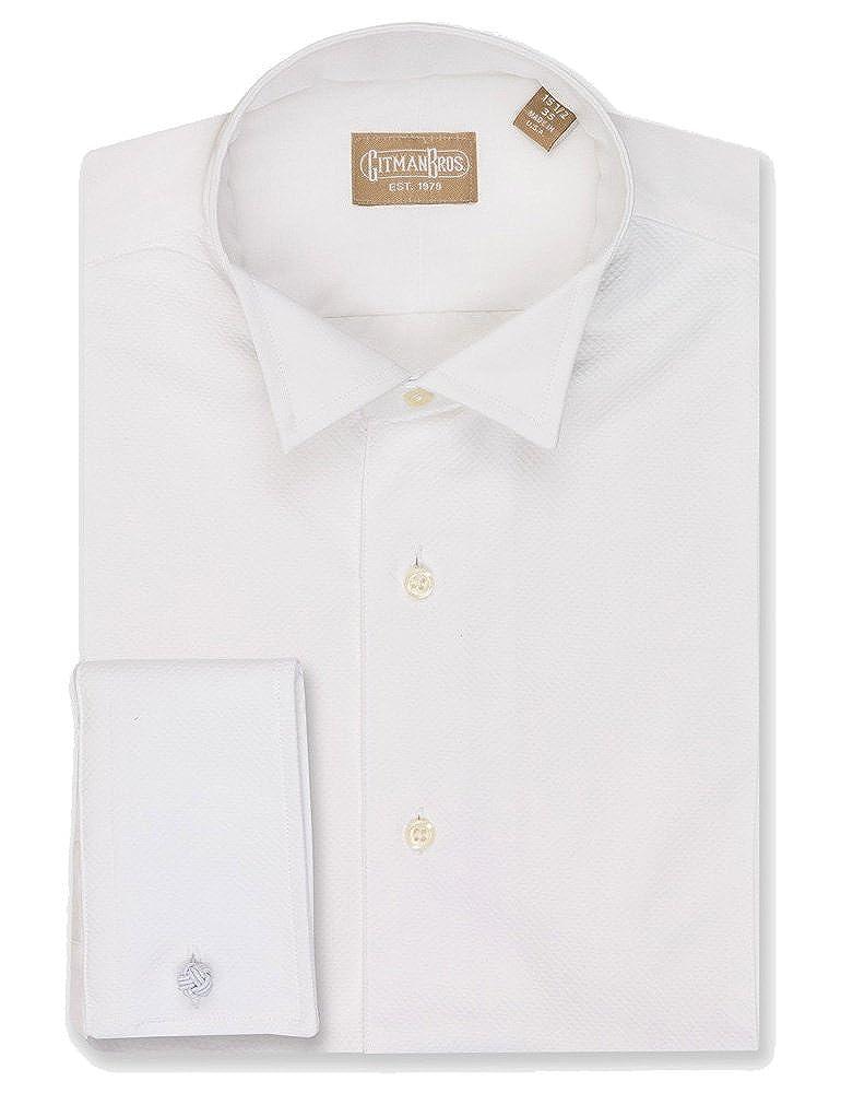 Gitman Pique Wing Collar Tuxedo Shirt