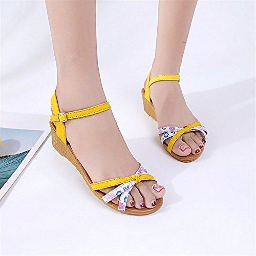 semplice e estate Onorevoli moda YMFIE alla è yellow comodo q6Ip6WZw