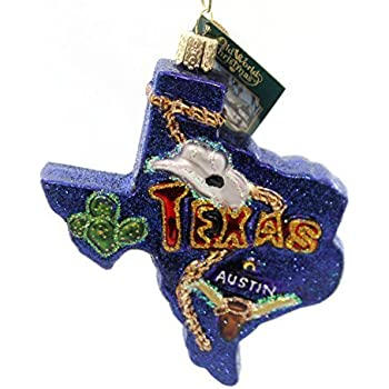 Old World Christmas Ornaments: State of Texas Glass Blown Ornaments for  Christmas Tree - Amazon.com: Old World Christmas Ornaments: State Of Texas Glass