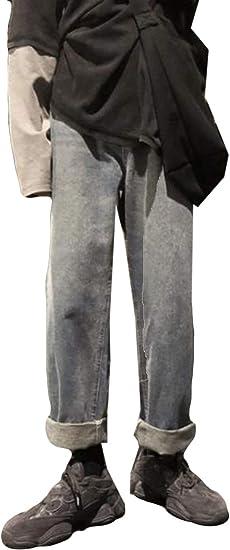 AOZUOデニムパンツ メンズ ゆったり カジュアル ジーパン ワイドパンツ ストレート 美脚 オールージーンズ トレロ 秋 冬 デニムズボン 無地 シンプル 韓国風
