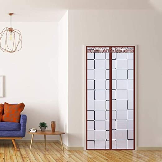 Panel de cortina de puerta de cocina magnética,cortina aislamiento térmico transparente,cortina aire acondicionado PEVA cortina puerta pantalla de imanes multiusos para prevención de humos de cocina: Amazon.es: Bricolaje y herramientas