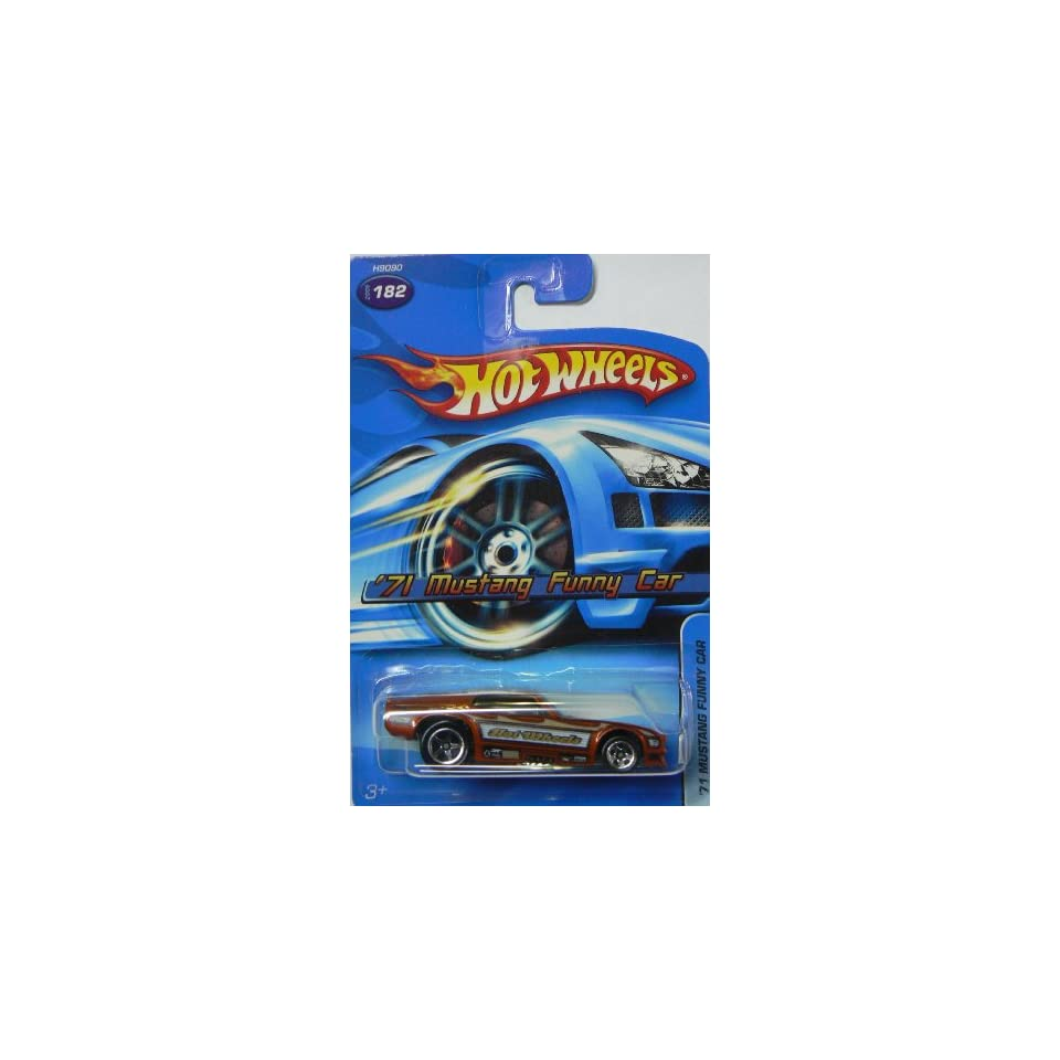 2005 Hot Wheels 71 Mustang Funny Car Dark Orange #182