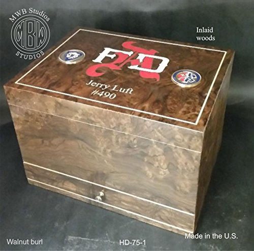 Handcrafted Humidor Made in the U.S.(Fire Department)