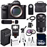Sony Alpha a7R II Mirrorless Digital Camera (International Model no Warranty) + Sony E 55-210mm f/4.5-6.3 OSS E-Mount Lens (Black) + 49mm 3 Piece Filter Kit 6AVE Bundle 123