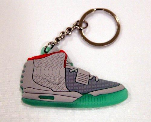 Nike Air Yeezy II Keychain (Black/Grey/Red/Glow-in-the-Dark Green) (Nike Air Yeezy)