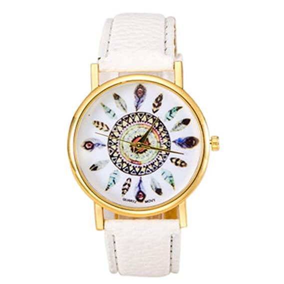 Mujeres Relojes Reloj Moderno Ginebra Muelle Dekor Relojes Piel Reloj de Cuarzo para Mujeres Damas Vestido