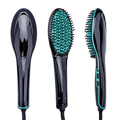 Digital Hair Straightener Brush, Fast Electric Comb,Straightening Irons,Anti Static Anti Scald Ceramic Iron Heating Hair Brush Instant Magic Silky Straight Hair Styling