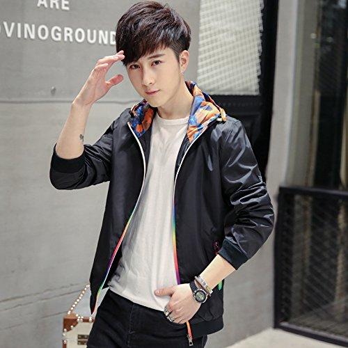THWS Uomo giacche giacca Zip hat timbro Sau San shirt, nero ,XXL
