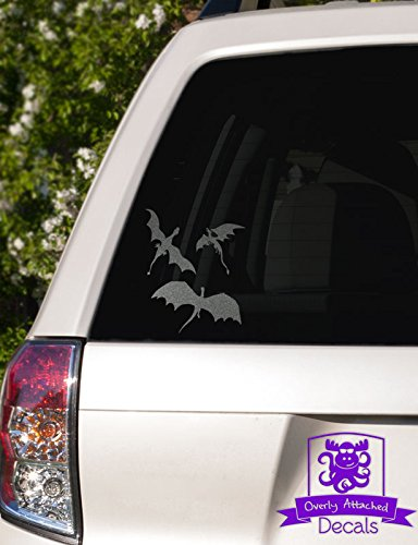 Overly Attached Decals 3 Dragons Flying Vinyl Car Decal - 8