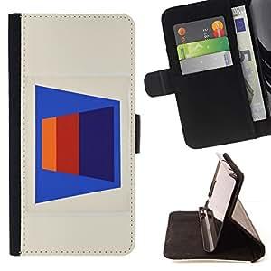 Momo Phone Case / Flip Funda de Cuero Case Cover - Patrón de líneas abstractas 3D Art Blue - Sony Xperia Z3 D6603