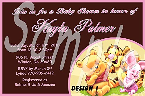 Winnie The Pooh Baby Shower Personalized Invitations More Designs ()