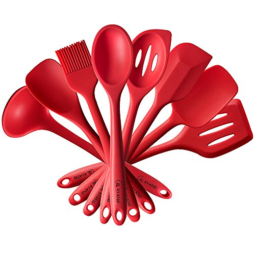 4YANG Silicone Spatula Cooking Utensil Set Heat Resistant Kitchen