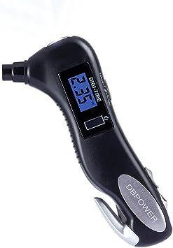*NEW* PREMIUM 5-in-1 Digital Tire Pressure Gauge Hammer /& MORE! Emergency Tool