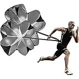 KUYOU Running Speed Training, 2 Umbrella Speed Chute 56 Inch Running Parachute Soccer Training Weight Bearing Running Fitness Core Strength Training