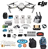 #6: DJI Mavic Pro Platinum - Drone - Quadcopter - Fly More Combo - with 3 Batteries - 4K Professional Camera Gimbal - Bundle - Kit - with Must Have Accessories - with Backpack
