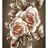 DIY Diamond Painting Paste Stone Flower Mosaic Cross Stitch Full/100% Area Square Resin Stick Tools Cross...