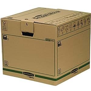 Bankers Box 62053 - Pack de 5 cajas de transporte y mudanza, grande, color beige