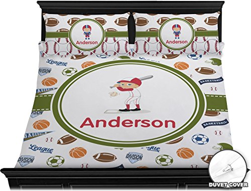 Sports Duvet Cover Set - King (Personalized) by RNK Shops