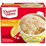 Duncan Hines Perfect Size for 1 Cake Mix, Ready in About a Minute, Lemon Cake, 4 Individual Pouches, 2.5 Ounce (Pack of 4)