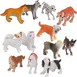 12PCS Assorted Plastic Pet Dogs Dalmatian Poodle Animal Party Bag Filler Toy