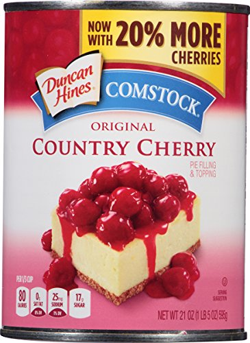 Comstock Original Pie Filling & Topping, Country Cherry, 21 Ounce (Pack of 12) (Best Canned Cherry Pie Filling)