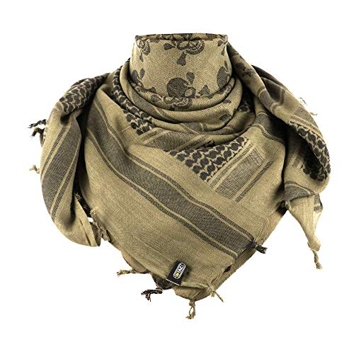 Military Wrap (Shemagh - Tactical Desert - Head Scarf - Neck Wrap - Keffiyeh (Olive/Black))